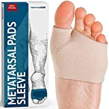 Metatarsal Gel Sleeves Forefoot Cushion Pads - Fabric Soft Foot Care Ball of Foot Cushions for Bunion Forefoot...