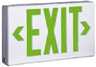 Sure-Lites LPX7-G LED Exit Sign Light, White Housing, Universal Face, Self-Powered, Green and Red Letters