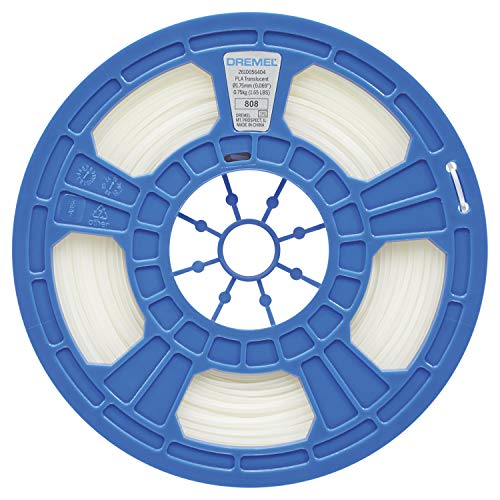 Filament PLA Translucide Dremel pour Imprimante 3D, Diamètre 1,75mm, 0,75kg