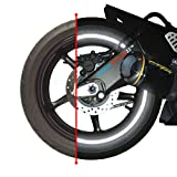 customTAYLOR33 (All Vehicles Black Engineering Grade Reflective Copyrighted Safety Rim Tapes (Must Select Your Rim Size), 17' (Rim Size for Most SportsBikes)
