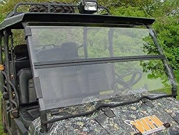 A&S AUDIO AND SHIELD DESIGNS 2008-2014 Polaris 800 FULL SIZE 1/4  POLYCARBONATE Fold Down Windshield