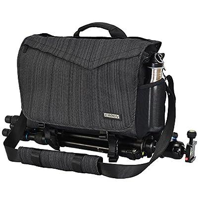 "CADeN Camera Bag Case Shoulder Messenger Photography Bag with Laptop Compartment 14"", Tripod Holder, Compatible for Nikon, Canon, Sony, DSLR SLR Mirrorless Cameras?Waterproof Black"