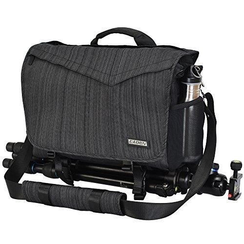 CADeN Bolsa para cámara - con Cubierta contra la Lluvia Acceso rápido Puede acomodar 1 cámara 3 Lentes 1 trípode y Otros Accesorios fotográficas para Canon Nikon Sony