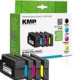 KMP Tintenpatronen Kompatibel mit HP 950/951 XL Multipack 3-Farbig & Schwarz für HP Officejet Pro 8100/8600/8610/8620