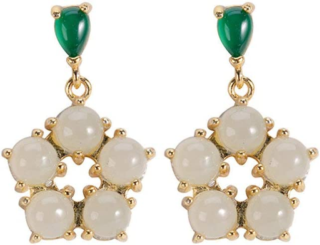Vintage Long Earrings S925 Sterling Plum Go Women Silver 2021 new Blossom Jacksonville Mall