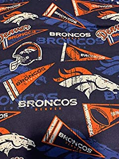 Country Snuggles Broncos Flag Fabric by The Yard (1/2 Yard)