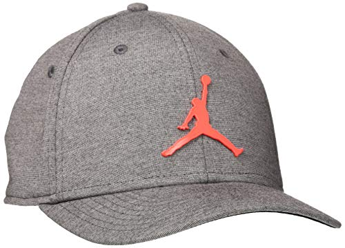 Nike  Hat Jordan CLC99 Cap Metal Jumpman, Black/Htr/(Infrared 23), MISC, CT0014