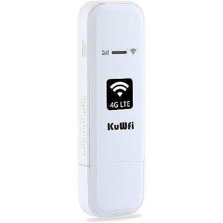 KuWFi 4G LTE USB Modem Network Adapter ,LTE Router de módem USB 4G LTE WiFi Mobile Network Hotspot módem router 3G 4G WiFi con ranura para tarjeta ...