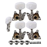 Yibuy Durable Banjo Semiclosed Right Machine Head Tuning Tuner Peg Key for Guitar Parts Pack of 5