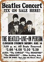 Shimaier 壁の装飾 メタルサイン ウォールアート - 1966 Beatles at Cleveland Stadium 縦30×横40cm ブリキ看板 店舗装飾 壁面ディスプレー おしゃれ 雑貨 通販 アメリカン ガレージ