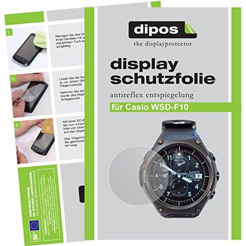 dipos I 6X Schutzfolie matt kompatibel mit Casio WSD-F10 Folie Bildschirmschutzfolie