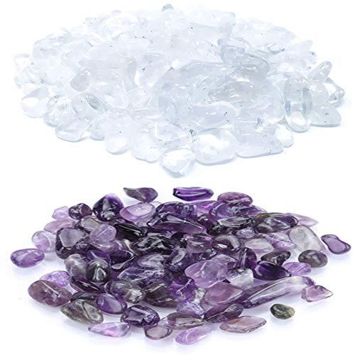 Cristal Natural Caído Piedra 200 gr Grava Natural Caída Grava de Cristal Decorativa Natural Roca Grava Piedras Naturales de Caída, Minerales para Pecera, Acuario, Decoración de Jardín