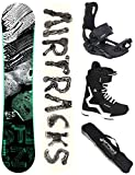 Airtracks Snowboard Set - Board STEEZY Wide 155 - Softbindung Master - Softboots Savage Black 44 - SB Bag