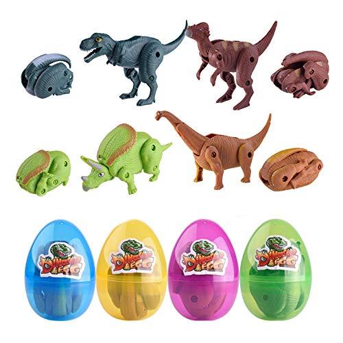 QINGQIU 4 Pack Dinosaur Toys...