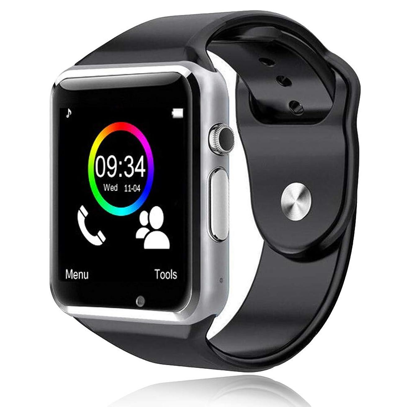背景露出度の高い立方体スマートウォッチ 2020 smart watch スマートウォッチ通話機能付き bluetooth時計 活動量計 心拍計 歩数計 健康 スマートブレスレット 着信通知 子供用 腕時計 アラーム時計 日本語説明書付き