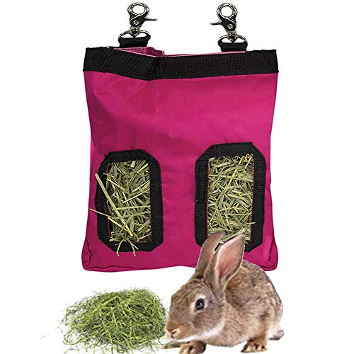 Comedero de heno para conejo, con 2 aberturas (23 x 28 x 2,6 cm)