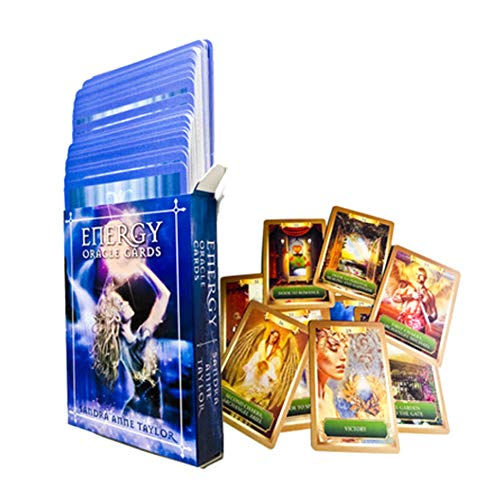 M-GLT Fun-Spiel-Energy Oracle-Karten, 53 Tarot-Karte Deck Brettspiel Familie Party-Spiel Für Anfänger (Englisch)
