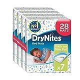 Huggies DryNites Bed Mats, saugfähige Betteinlagen für Kinder & Babys, wasserdicht, 78 x 88 cm, 4er Pack (4 x 7 Bettunterlagen)