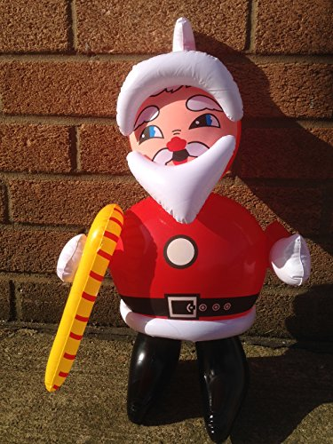 TRI Small Inflatable Santa Claus / Father Christmas, approx 50 cm - Great Fun Christmas Decoration Great For Desk Tops / Car Parcel Shelf / Lorry Dashboard