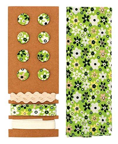 GLOREX Kit de Textile, Polyester, Vert, 24,5 x 17,6 x 0,5 cm