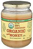 YS Organic Bee Farms CERTIFIED ORGANIC RAW HONEY 100% CERTIFIED ORGANIC HONEY Raw, Unprocessed, Unpasteurized - Kosher 32oz(pack of 1)
