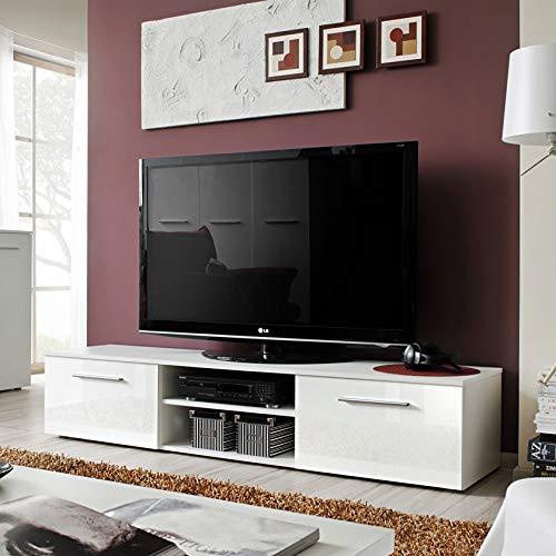 MAS Bono II - Soporte para TV, 180 cm de ancho, con solapa, alto brillo, para puertas