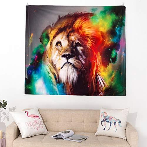 Giftik Tapiz de pared con diseño de animales de fantasía para colgar en la pared del hogar, dormitorio, sala de estar, tela de fondo de Internet, toalla de playa, esterilla de yoga (130 x 150 cm)