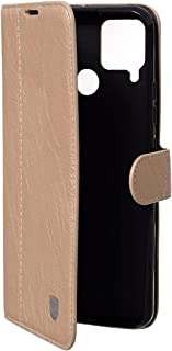 Lishen Leather Flip Cover For Oppo Realme C15 - Gold