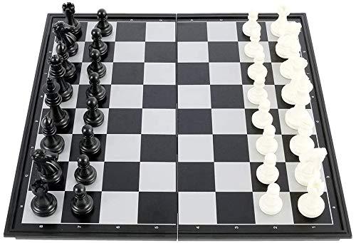 Ajedrez magnético grande, juego de ajedrez plegable portátil para viajes, juego de mesa, juguetes educativos para niños y adultos