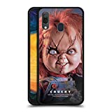 Head Case Designs Officially Licensed Bride of Chucky Doll Key Art Black Hybrid Glass Back Case Compatible with Samsung Galaxy A20 / A30 2019