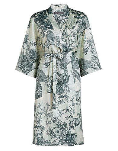 ESSENZA Kimono Sarai Vivienne Blumen Baumwollsatin Weiß, M