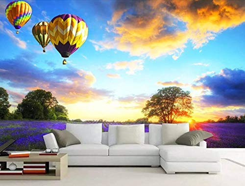 Papel Pintado Pared Vista de globo aerostático 400x280cm Foto Mural 3D Fotomurales Decorativos Pared Moderna Póster Fotográfico Salón Dormitorio Decoración Murales