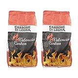 VIRSUS Carbone di Legna Sacco da 2,5 kg Netti Puro Carbone per Barbecue, Grill, Grigliata o Barbecue...