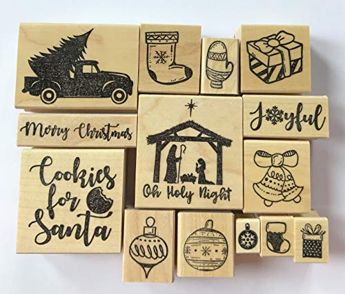 Merry Christmas Rubber Stamps, Christmas Rubber Stamps