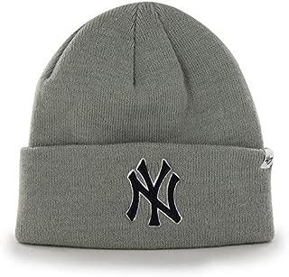 New York Yankees MLB Baseball Beanie Cap Gray Winter Knit Cuff Hat