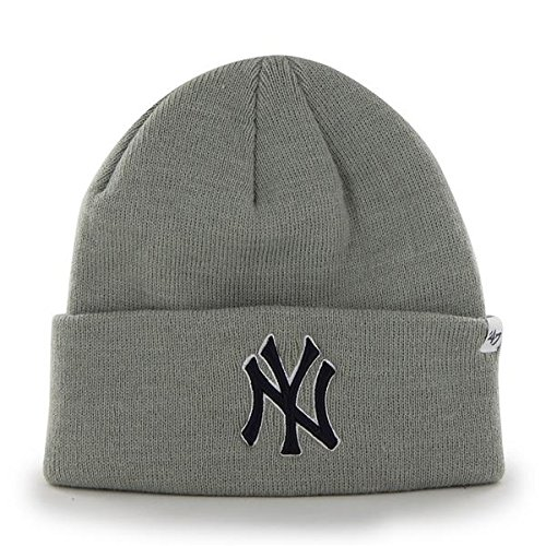 feb71da7a8c  47 New York Yankees Gray Cuff Beanie Hat - MLB Cuffed Winter Knit Toque Cap.