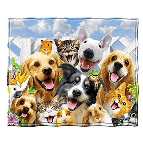 Dawhud Direct Fleece Throw Blanket by Howard Robinson (Backyard Pals Dogs and Cats)