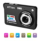 ATian Compactas Cámaras Digitales 2.7 Pulgadas LCD 8X Zoom Digital Anti-vibración Recargable HD...