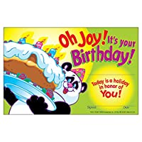 """英語版賞状 """"OH JOY! IT'S YOUR BIRTHDAY!""""[T8101]"""