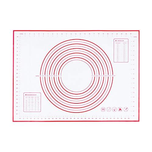 Yardwe Almohadilla De Silicona para Amasar (50 * 70 Cm Rojo) (Patrón Aleatorio)