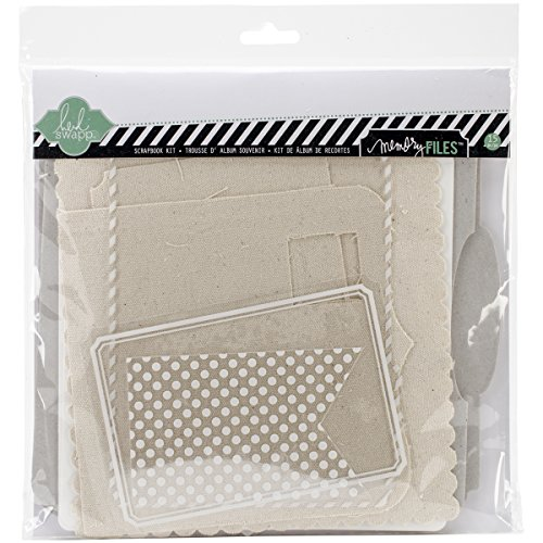 American Crafts Papier Heidi Swapp 10268595 Schablone zum Mixed Media Scrapbook Album Kit 9 Zoll x 9 Zoll, Spanplatten Memory Dateien