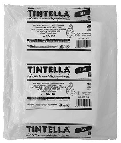 30 Mantelle Per Parrucchieri, Atossiche Monouso Per Taglio Capelli, Barba, Tinta, Grandi 90x120cm Uso professionale e domestico, Colore Bianco latte.