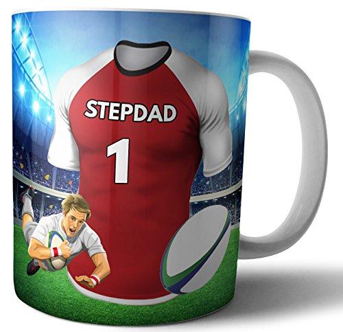 Teetasse/Kaffeetasse Rugby-Geschenk für einen Stepdad – Die Sunwolves Farben