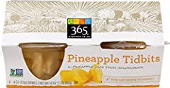 365 Everyday Value Pineapple Tidbits, 4 oz, 4 ct