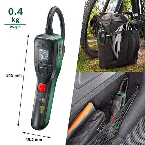Bosch Home and Garden 603947000 elektrische Luftpumpe Mini Kompressor EasyPump (3,0 Ah Akku, 3,6 Volt, Autostop-Funktion, 150 PSI, 10,3 bar, LED, über USB-C® wiederaufladbar, in Karton) - 5