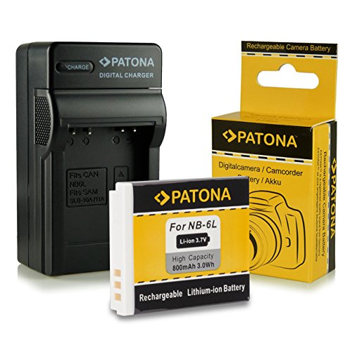 Cargador + Batería NB-6L para Canon Digital Ixus 85 IS   95 IS   105   200 IS   210 IS   300 HS   310 HS - Canon PowerShot D10   D20   S90   S95   SX240 HS   SX260 HS   SX270 HS   SX280 HS   SX500 IS