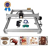 4YANG Carving Machine Kit, Desktop 12V USB Laser Engraver Carver, Area di incisione 400X500mm, Stampante laser regolabile Carving & Cutting with Goggles (2500MW)