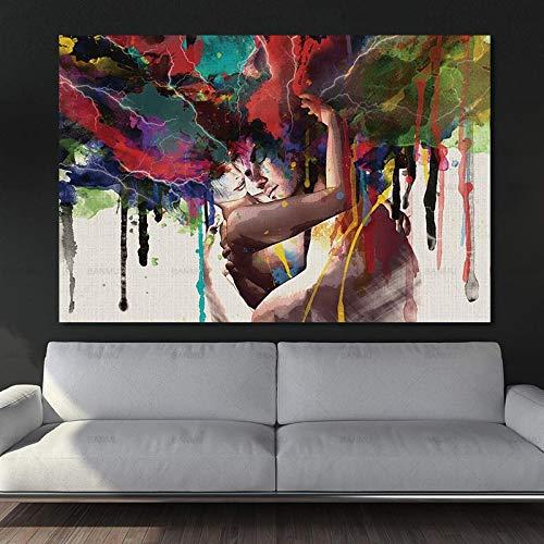 Geiqianjiumai abstract muurschildering karakter muurschildering canvas decoratie kunst schilderij huishoudtextiel schilderij frameloos schilderwerk