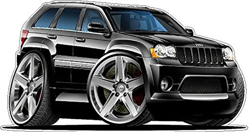 2007 Jeep Grand Cherokee SRT8 2ft Long WALL DECAL Vintage 3D Car Movable Stickers Vinyl Wall Stickers For Kids Room