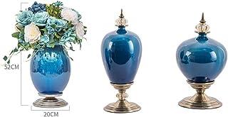 KEKEYANG Florero de la tabla jarrones de cerámica for las flores decorativo jarrón de porcelana for la sala de estar dormi...